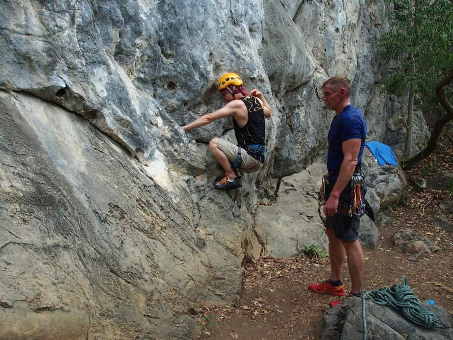 Natural Wall Rock Climbing and Abseiling – Private Session
